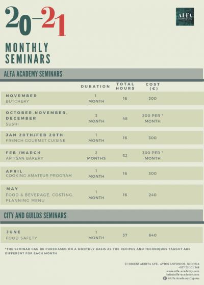 Monthly Seminars