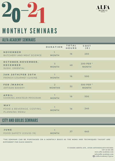 monthly seminars
